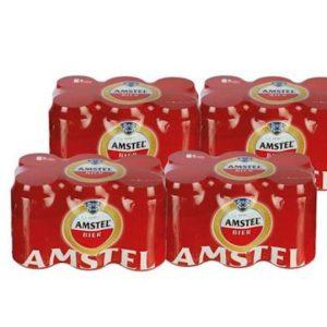Amstel 24 blikjes bier 6 pack