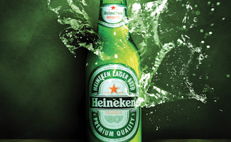 Heineken bier in Amsterdam